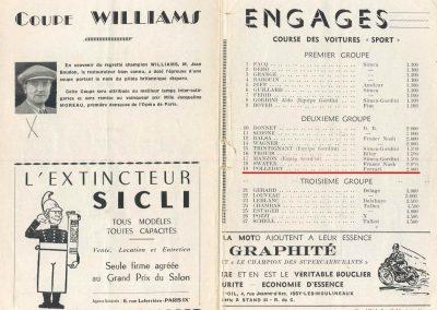 1949 09 10 GP du Salon de Paris à Monthléry Hommage à Williams, Pollédry, Grignard, Pozzi, Wagner, Sommer, Colibet Chef de piste... 3