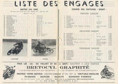 1949 09 10 GP du Salon de Paris à Monthléry Hommage à Williams, Pollédry, Grignard, Pozzi, Wagner, Sommer, Colibet Chef de piste... 4