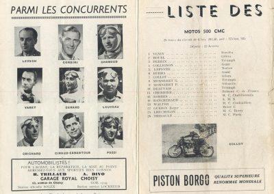 1949 09 10 GP du Salon de Paris à Monthléry Hommage à Williams, Pollédry, Grignard, Pozzi, Wagner, Sommer, Colibet Chef de piste... 7