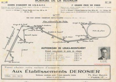 1949 24 04 GP Paris à Montlhéry, Hommage à Wimille, 1er Etancelin-Talbot. Coupe des Prisonniers, une Robert Benoist, une de la Libération. 1500 à compr. 4500 sans. 2