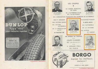 1949 24 04 GP de Paris ( le 2ème) à Linas-Montlhéry ''Coupe d'Argent'' Amilcar Monoplace 1er Le Jamtel. Tony Hannoyer. 13
