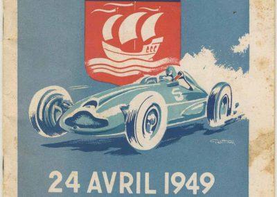 1949 24 04 GP de Paris, le 2ème ''la Coupe d'Argent'' à Linas-Monlhéry. Amilcar 6 cyl. usine Monoplace ''Dergi Spécial'' 1er Cat. 1100, Le Jamtel. 01