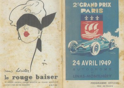 1949 24 04 GP de Paris, le 2ème ''la Coupe d'Argent'' à Linas-Monlhéry. Amilcar 6 cyl. usine Monoplace ''Dergi Spécial'' 1er Cat. 1100, Le Jamtel. 1