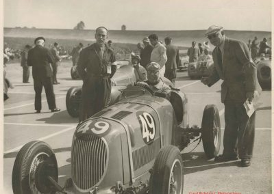 1949 24 04 GP de Paris, le 2ème ''la Coupe d'Argent'' à Linas-Monlhéry. Amilcar 6 cyl. usine Monoplace ''Dergi Spécial'' 1er Cat. 1100, Le Jamtel. 3