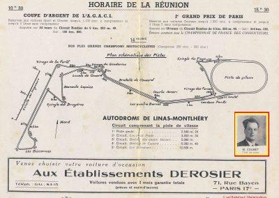 1949 24 04 GP de Paris, le 2ème ''la Coupe d'Argent'' à Linas-Monlhéry. Amilcar 6 cyl. usine Monoplace ''Dergi Spécial'' 1er Cat. 1100, Le Jamtel. 8