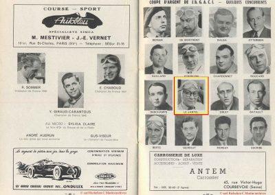 1949 24 04 GP de Paris, le 2ème ''la Coupe d'Argent'' à Linas-Monlhéry. Amilcar 6 cyl. usine Monoplace ''Dergi Spécial'' 1er Cat. 1100, Le Jamtel. 9