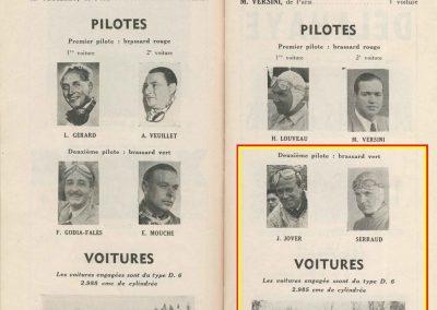 1949 26 06 Les 24 h. du Mans. 1er Ferrari Chinetti-Selsdon. ab de Serraud-Versini sur Delage. 2