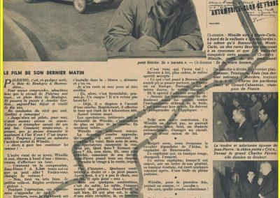1949 28 01 Hommage à J.P. Wimille par le Général Valin et Trintignant. 1
