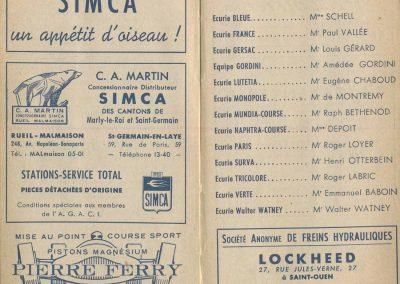 1949 Agenda AGACI ''les Ecuries'', publicité Pierre Ferry,... . 1