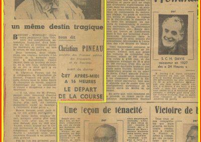 1949 Hommage à Wimille et Benoist par Mr Pineau, Ministre. 1