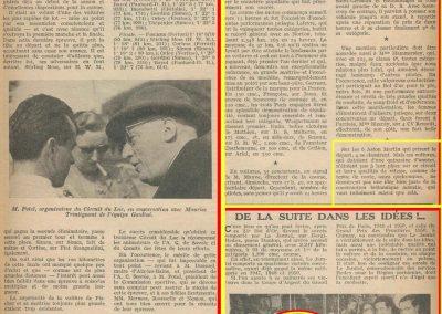 1951 04 06 23ème Bol d'Or. 1 cat. Course Amilcar Le Jamtel, 2ème au général. 1