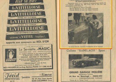 1951 04 06 23eme Bol d'Or, Amilcar Monoplace 1er Cat. Le Jamtel. 2