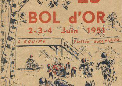 1951 04 06 Bol d'Or (23è) Amilcar Monoplace 1er Cat. Le Jamtel. 1