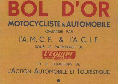 1952 07 09 24eme Bol d'Or Montlhéry. 1er Catég. C.A. Martin-Simca Aronde, Le Jamtel sur Porsche est accidenté. 1