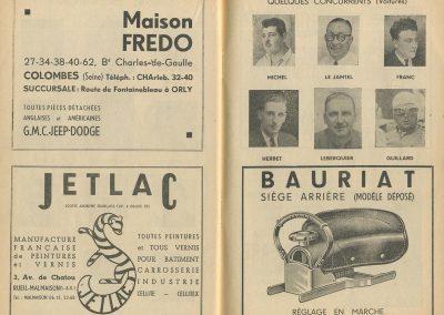 1952 07 09 24eme Bol d'Or Montlhéry. 1er Catég. C.A. Martin-Simca Aronde, Le Jamtel sur Porsche est accidenté. 23