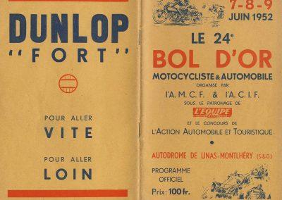 1952 07 09 24eme Bol d'Or Montlhéry. 1er Catég. C.A. Martin-Simca Aronde, Le Jamtel sur Porsche est accidenté. 2_