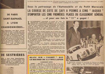 1952 09 04 Côte Lapize Montlhéry, Amilcar MCO 1100, Mestivier 31'1-5, 2ème Le Jamtel Monoplace 6cyl. Amilcar 35' (Dergi-redex), 6ème Jeffe.1