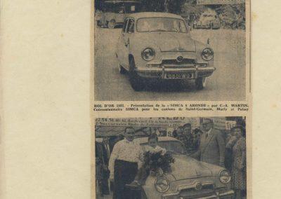 1952 09 06 B.O. à Montlhéry, Le Jamtel sur Porsche, accidenté, C.A. Martin 1er Cat. Simca Aronde, 2