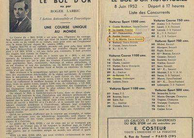 1952 09 06 B.O. à Montlhéry, Le Jamtel sur Porsche, accidenté, C.A. Martin 1er Cat. Simca Aronde, 4
