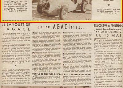 1953 09 03 Côte Lapize Montlhéry. Amilcar 1er Mestivier MCO, 2ème Le Jamtel 1100cc, 2000 Gicey 1