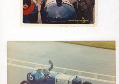 1973 30 05 René Thomas à bord de sa Delage 1914, pilotée par de Paolo (lui-même, 70 ans, fils du vainqueurd 1925) sont salués par une foule immense. 4