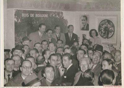 1975 Soirée à l'AGACI., Chinetti, Jeff, Savoye, C.A Martin, Scaron, Vernet (moustache), d'Arl'Mat, G. Ham, Lallemand (lunette). 1