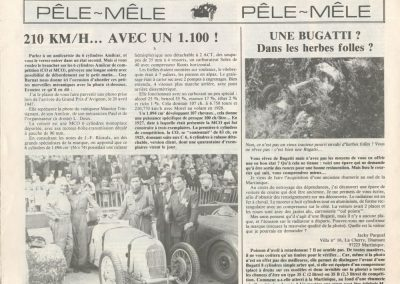 1987 16 04 la Vie de l'Auto n°87. Reportage sur le Palmarès de ce Monoplace Amilcar, totalement erroné, n'engageant que leurs auteurs. 1